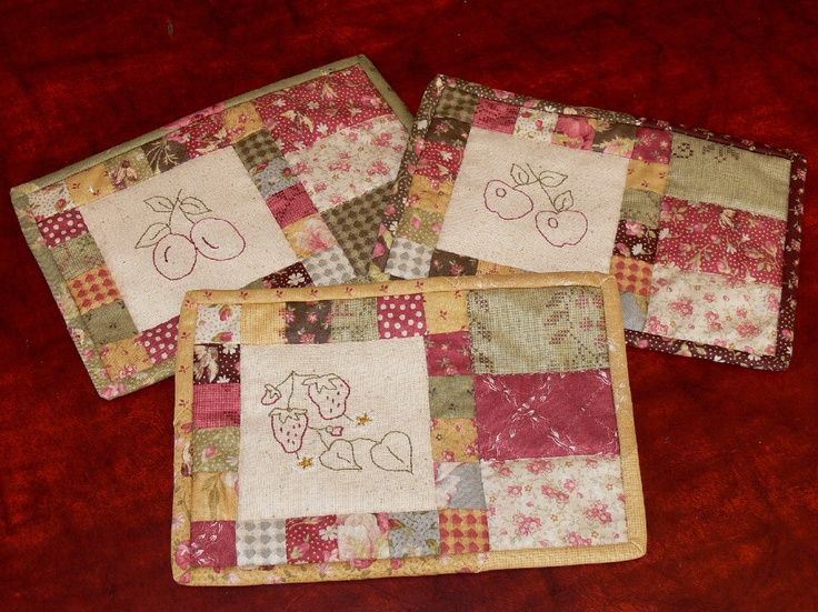 Nice Use Of Your Stash Quilted Mug Rugs Free Patterns Google Search Crafty Things