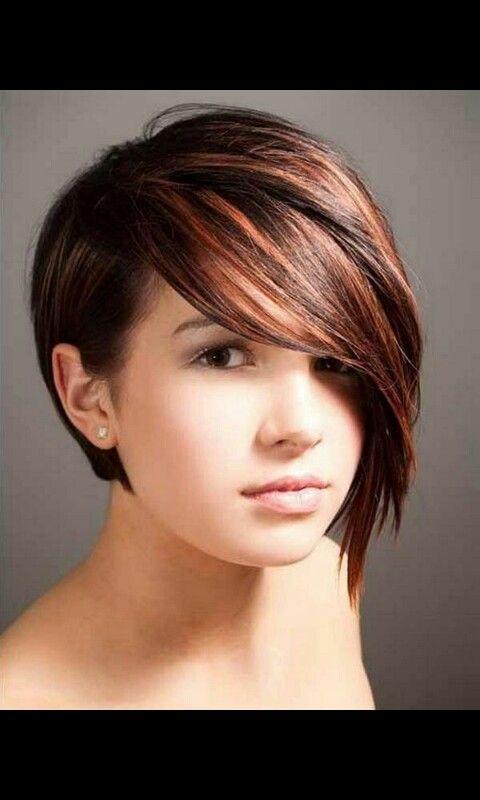 Asymmetrisch Kurz Frisuren Pinterest Frisur Frisuren Für