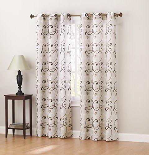 Sun Zero Brice Thermal Lined Grommet Curtain Panel, 40 X