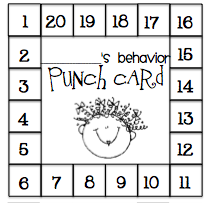 what the teacher wants behavior punch card