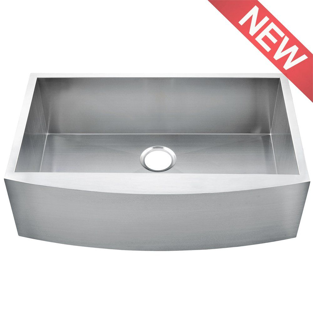 Comllen 36 Inch Handmade Apron Single Bowls 16 Gauge Stainless Steel  Undermount Farmhouse Sink