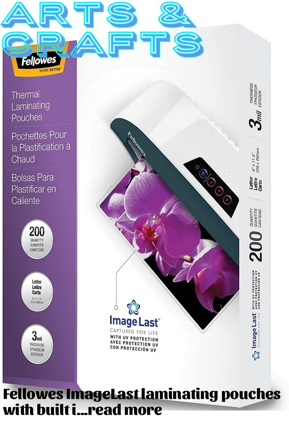 Fellowes Laminating Pouches Letter 200pk 3mil Clear In 2020 Craft Supplies Pouch Fellowes