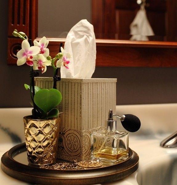 eigenartige-deko-badezimmer-orchidee-goldig Dekoration Pinterest - dekoration für badezimmer