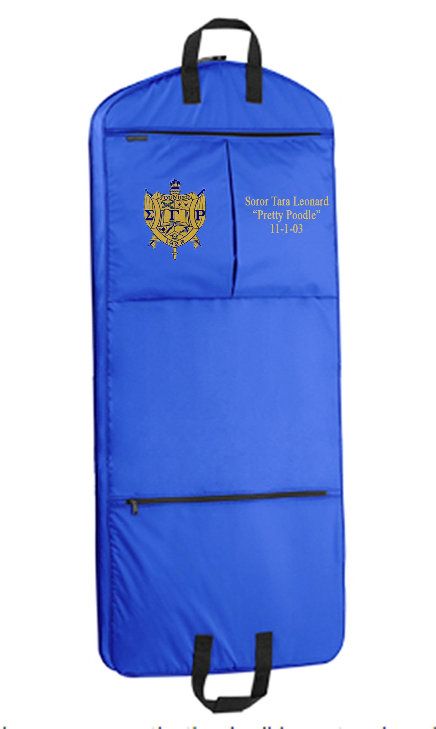 PERSONALIZED GARMENT BAG-SGRho | SGRho | Pinterest