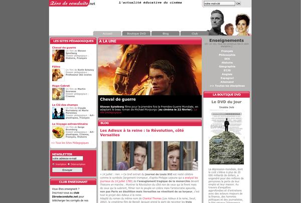 Education et cinéma : le site Zéro de conduite http://www.zerodeconduite.net/ via @url2pin