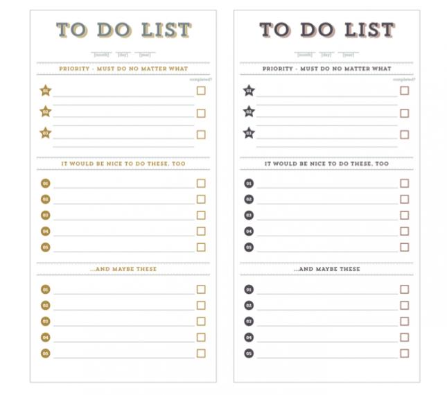 No Excuses  Free Printable ToDo Lists  Free Printable Free