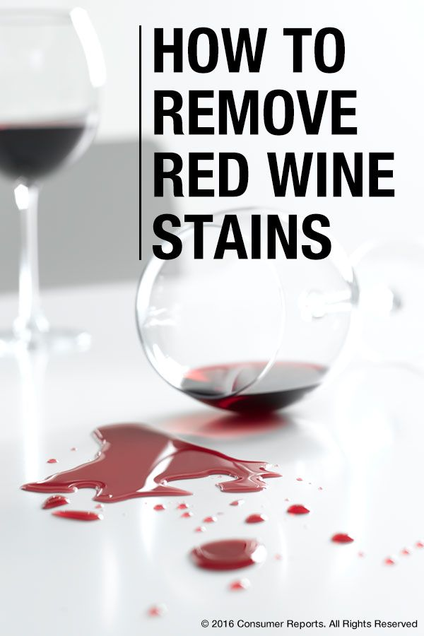 How To Remove Stains Like Mustard Red Wine And Chewing Gum Red