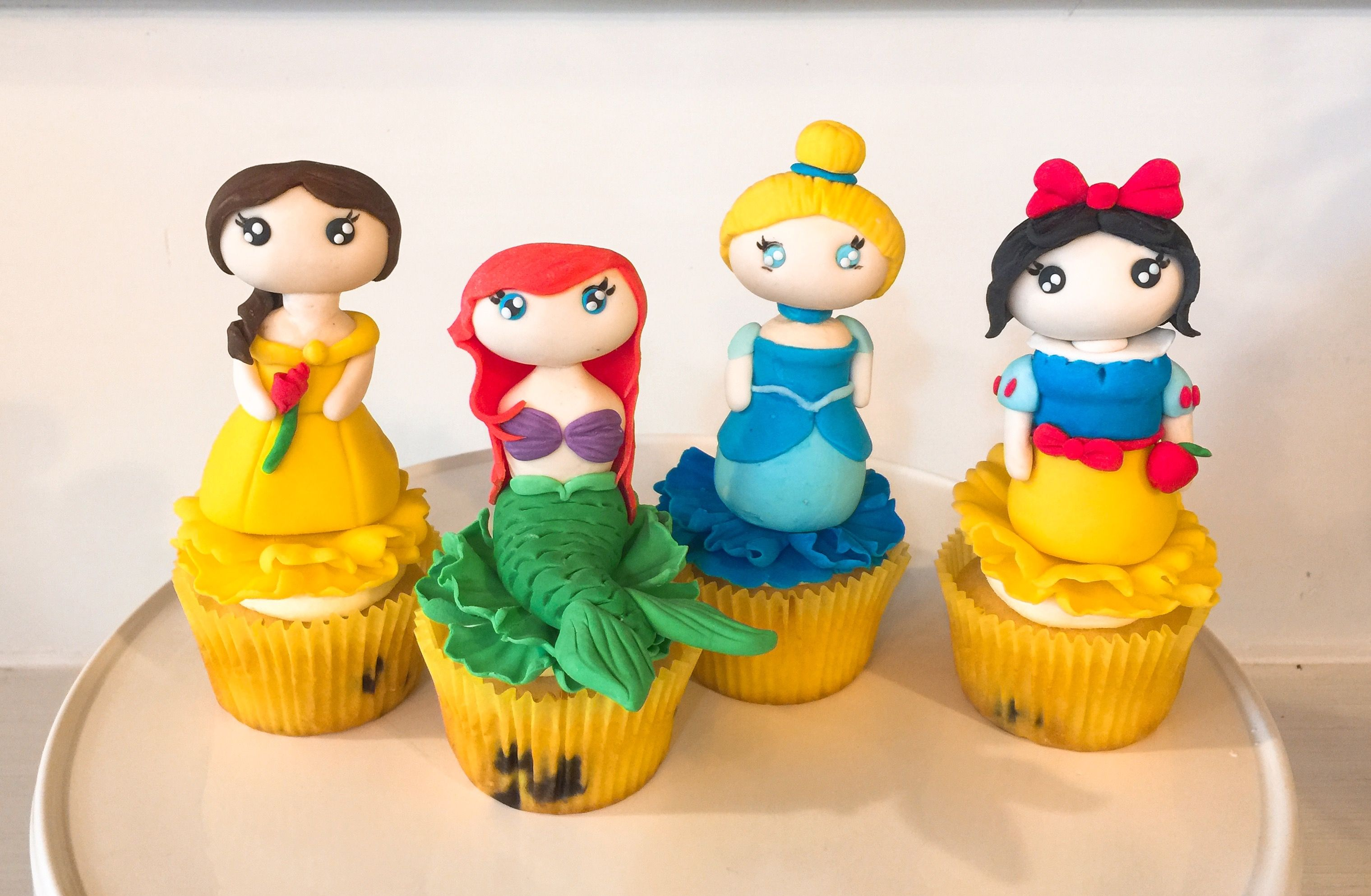 Fondant Disney Princess Figurines Cupcake Toppers Fondant