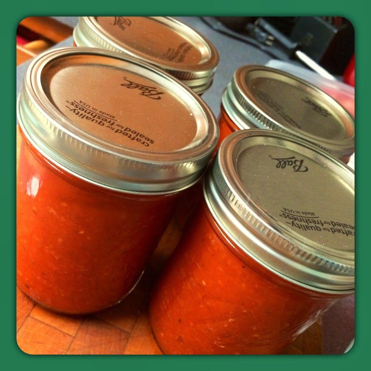 Peary Made: Home Made: Spaghetti Sauce Canning