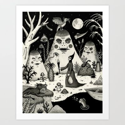 Outcry of the Island Art Print by Jon MacNair