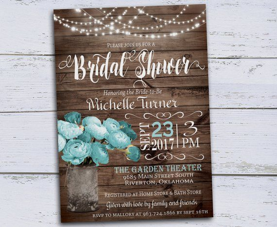 Fl Bridal Shower Invitations Spring Rustic Invitation Country Invi