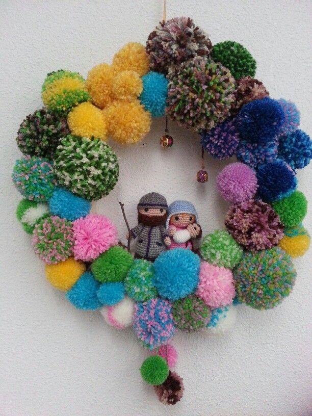 Crocheted Wreath Santa Wreath https://www.ilikecrochet.com ... | 816x612