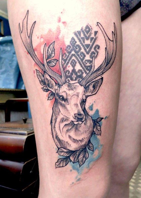 15 Noble Stag And Deer Tattoos Deer Tattoo Stag Tattoo 3d Tattoo Artist