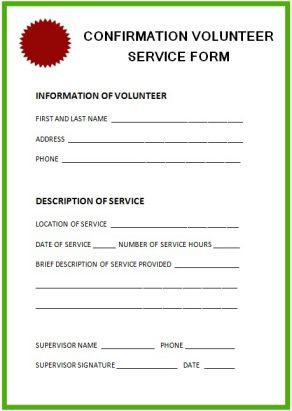 Community Service Hours Confirmation Letter Template  Community