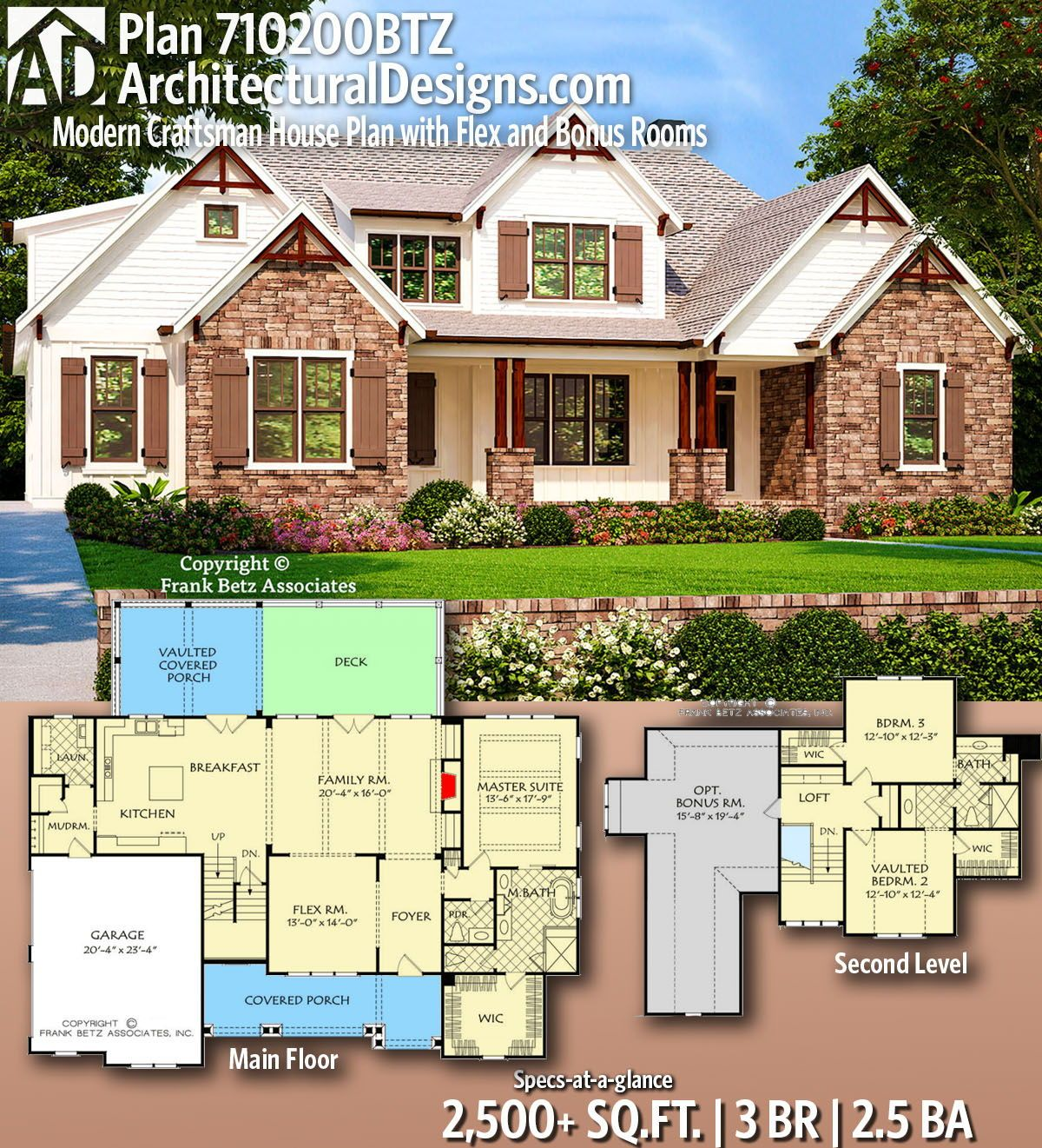 Plan 710200btz Modern Craftsman House Plan With Flex And Bonus Rooms Craftsman House Plans Craftsman House House Plans