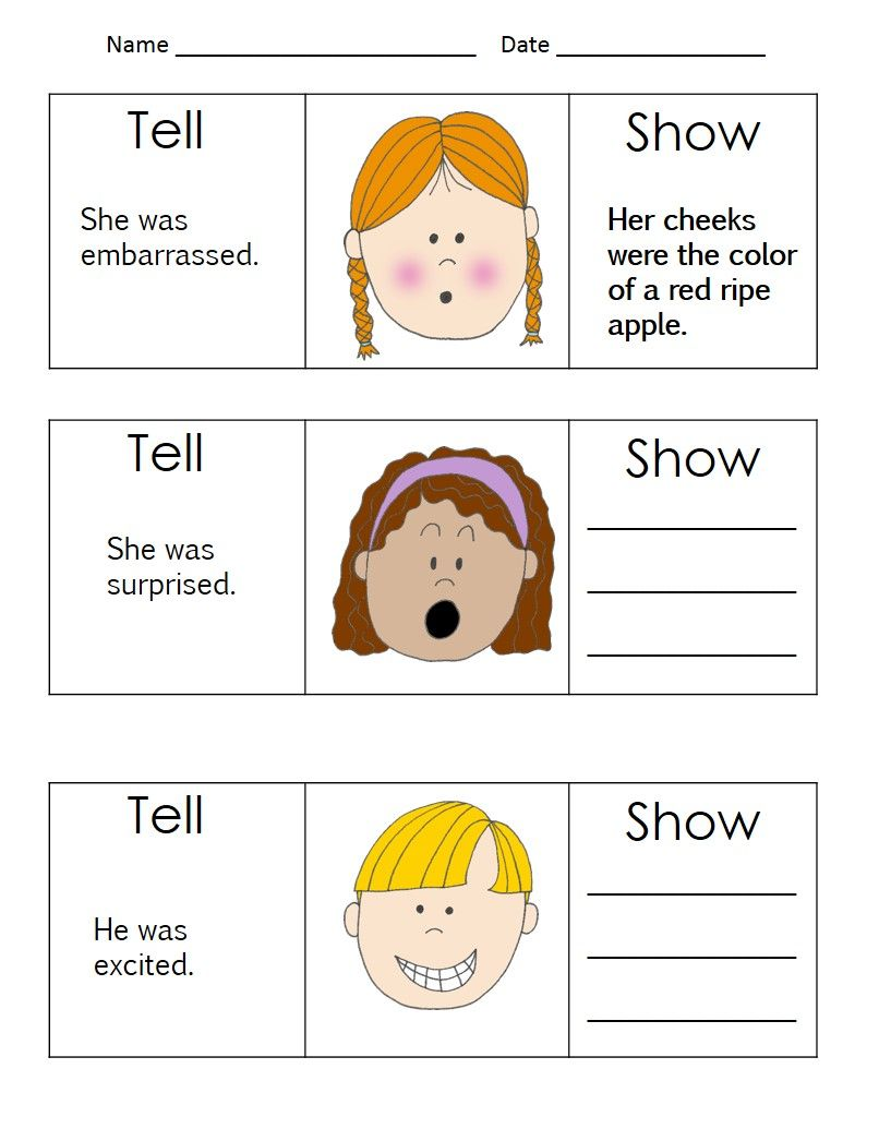 worksheet Show Don T Tell Worksheet realistic fiction writing unit 2nd3rd grade fictional narratives narratives