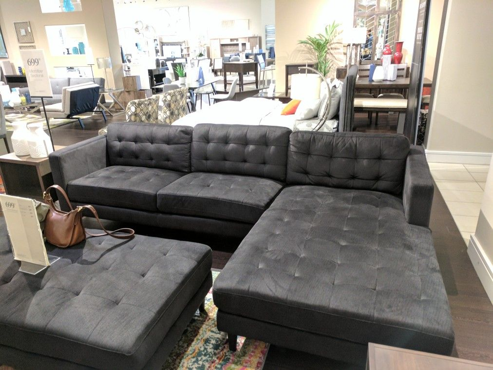 City Furniture Couch Let Shae Dk Gray Chase Sectional Couch