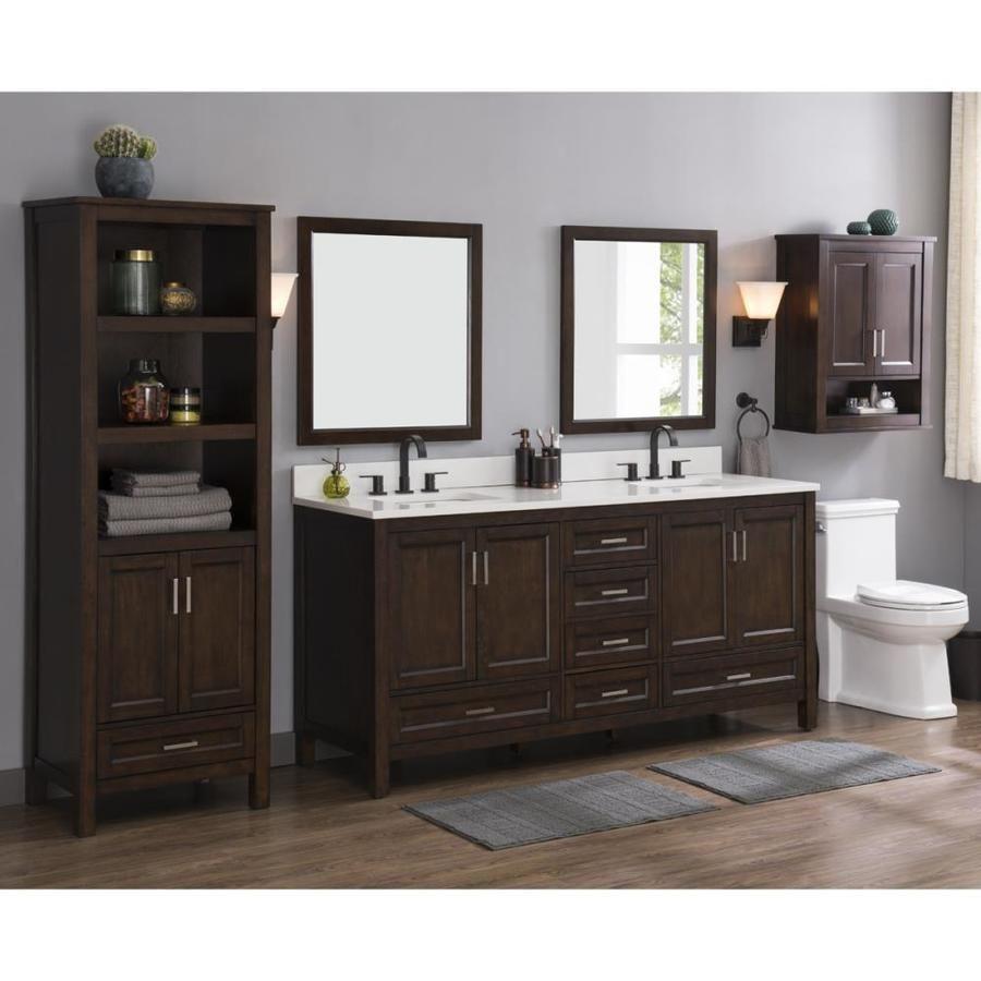 Scott Living Durham 72 In Chocolate Double Sink Bathroom Vanity