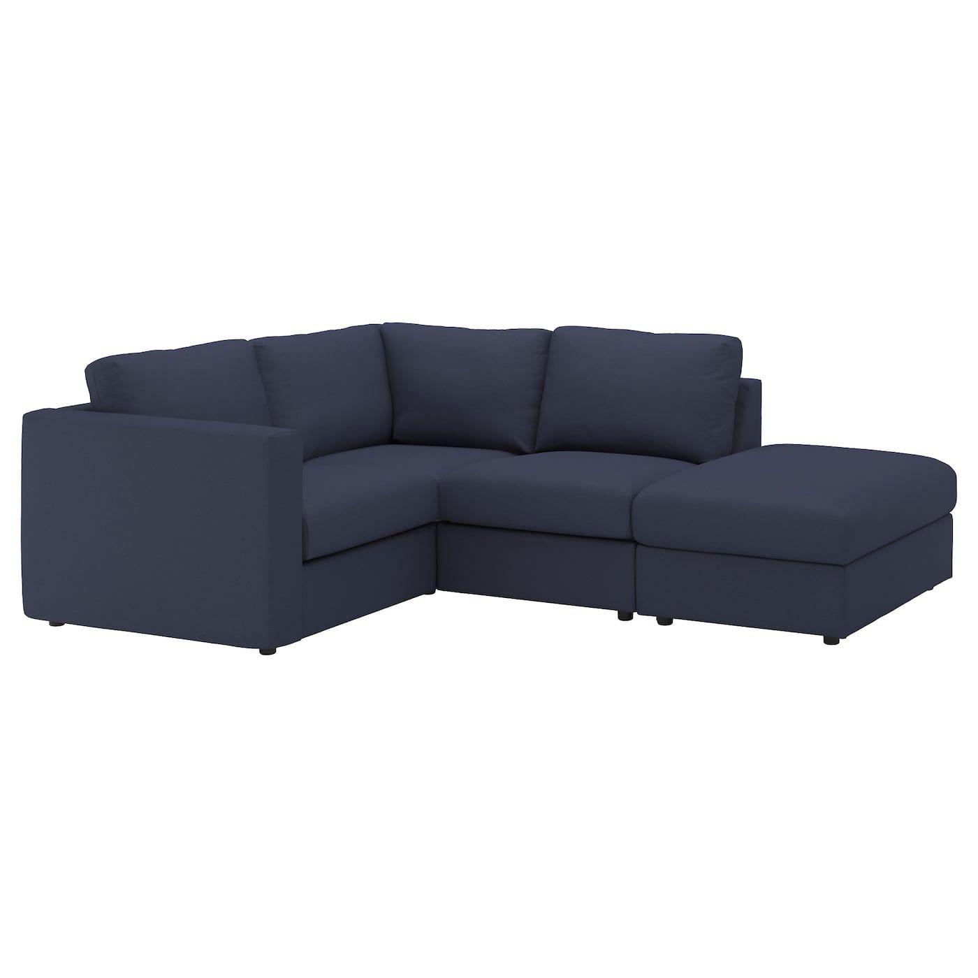 Vimle Sectional 3 Seat Corner With Open End Orrsta Black Blue Modular Sectional Sofa Corner Sofa Ikea Corner Sofa