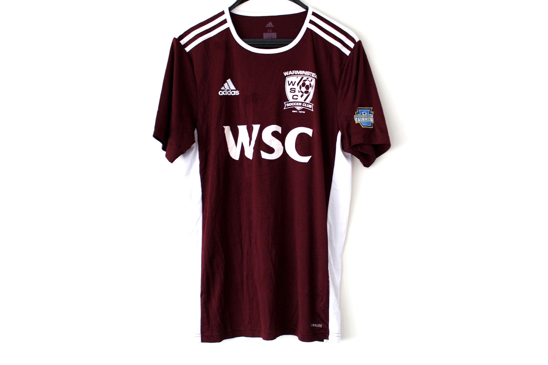 Vintage Adidas Football Shirt Burgundy White Football Jersey ...