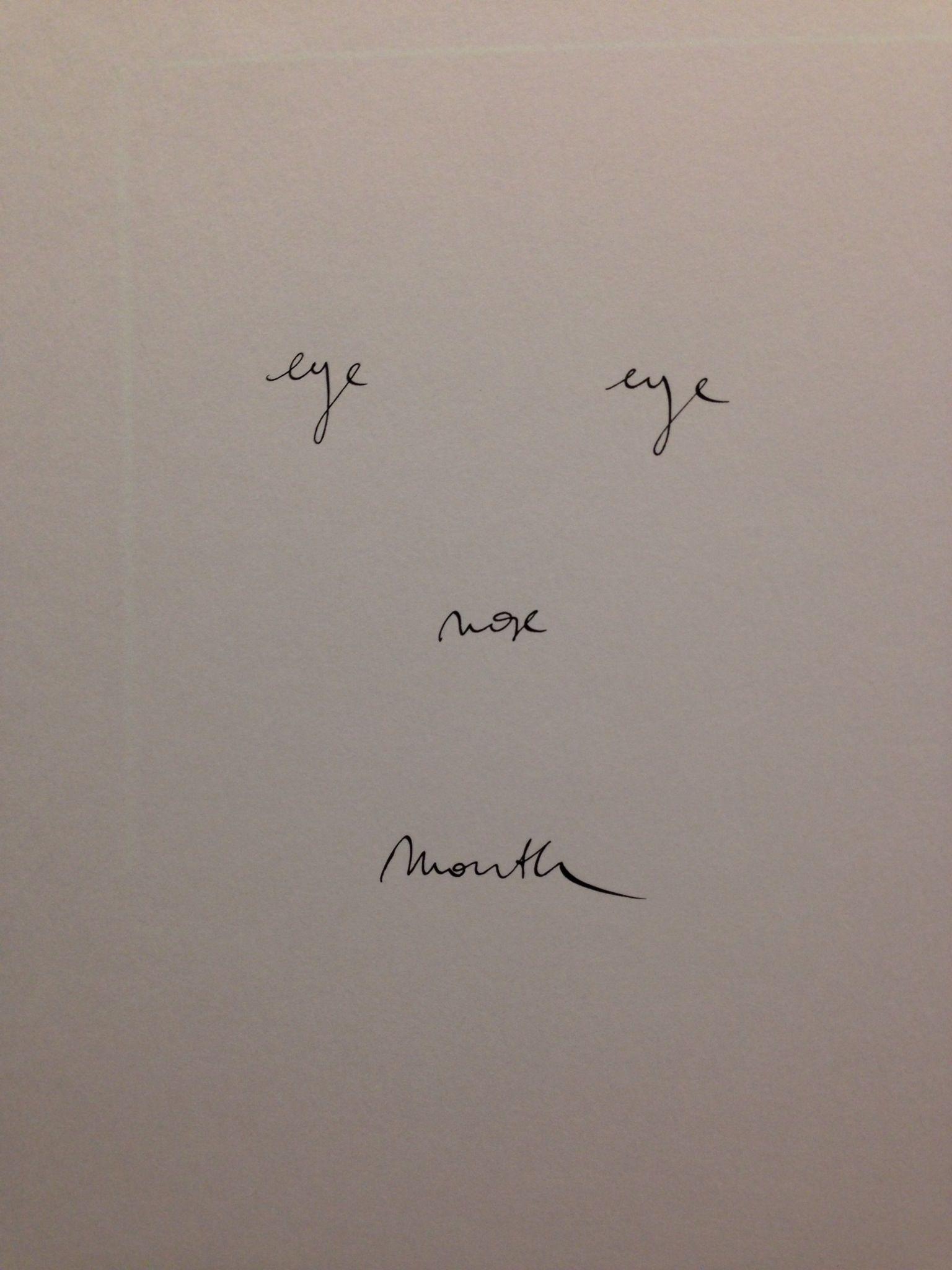 Kris Martin - Eye Eye Nose Mouth