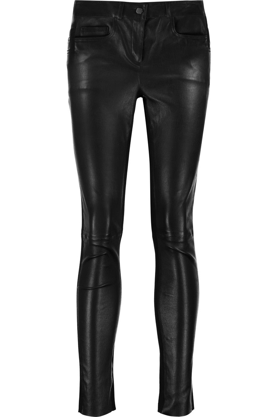 8a7c000f39 JOSEPH Evie mid-rise leather-paneled skinny jeans. #joseph #cloth #jeans