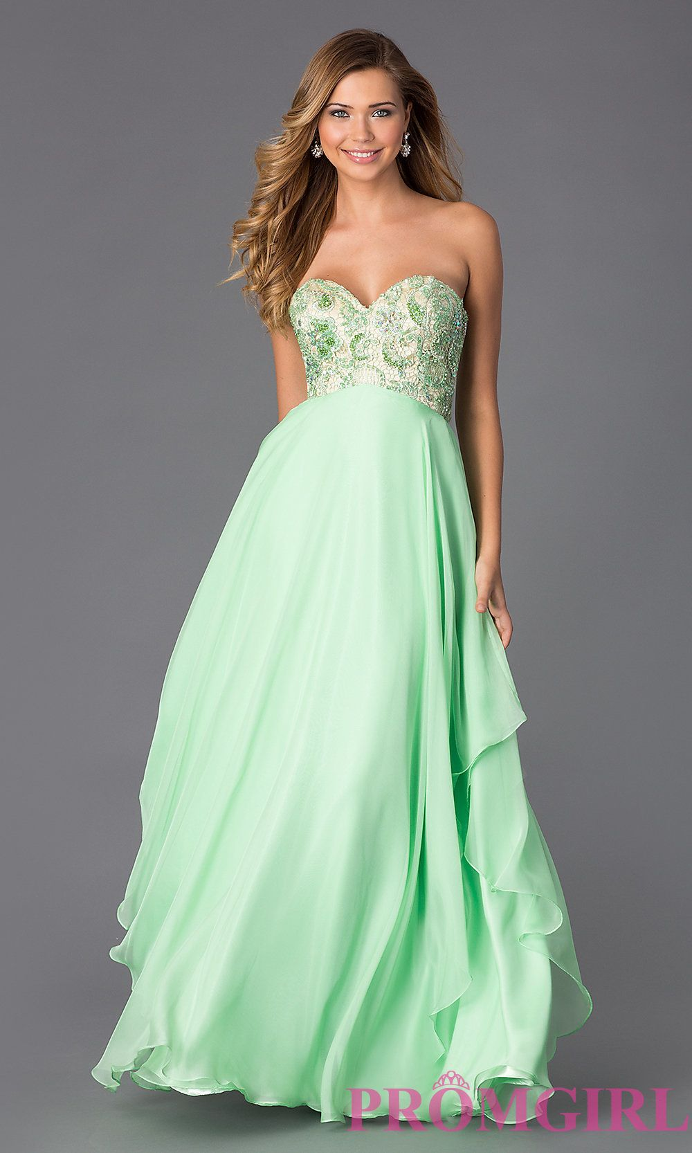 Image of Alyce Empire Waist Prom Dress AL-35678 Style: AL-35678 ...