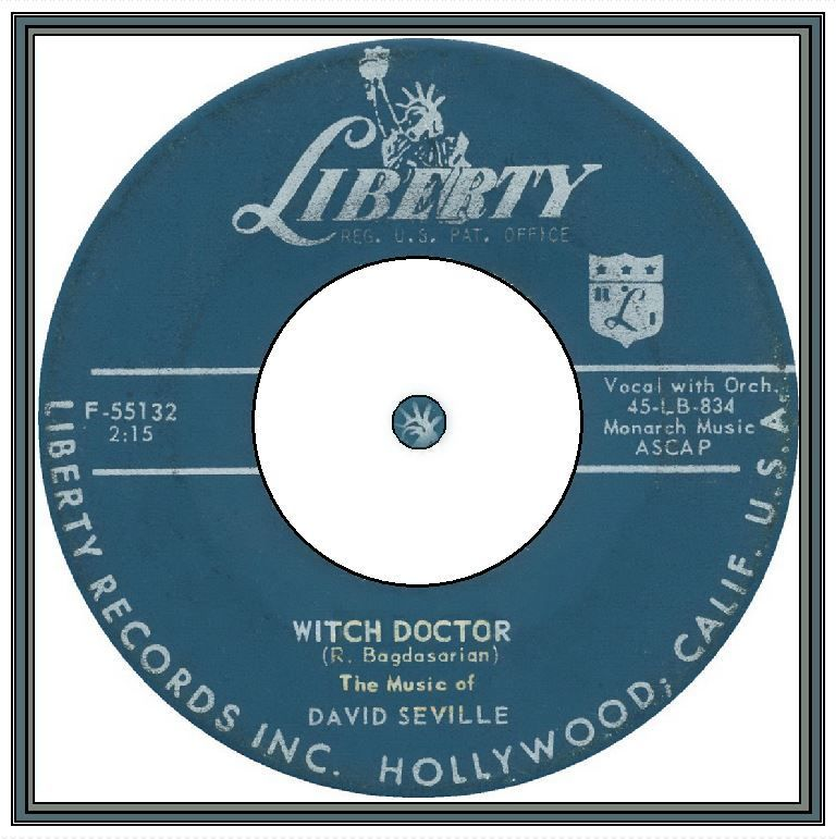 David Seville - Witch Doctor | Record label, Rock n roll, Music record