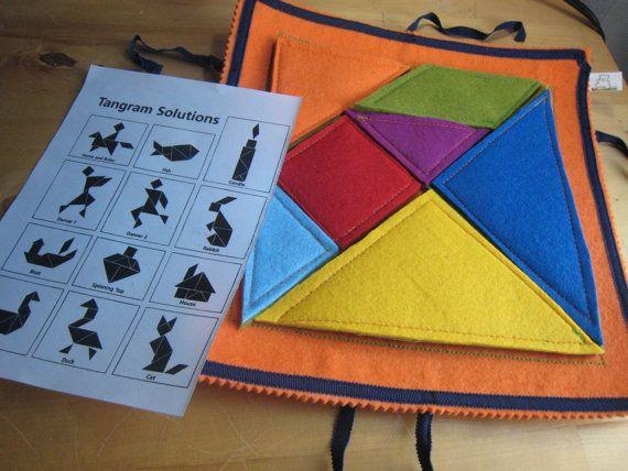 TANGRAM-felt game handmade by Ilfilodelgioco on Etsy