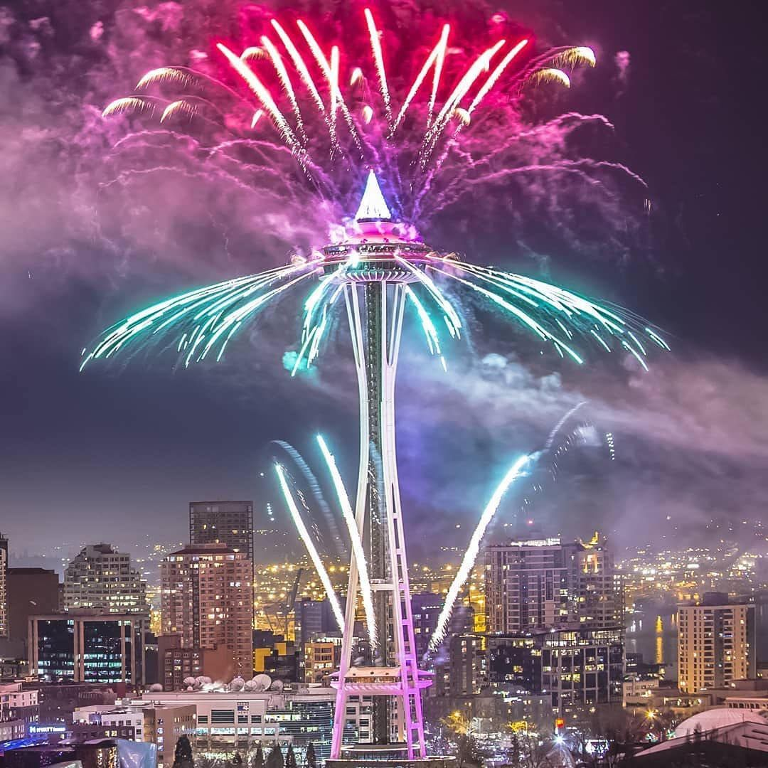 "29aac42a1e5 Visit Seattle ( visitseattle) on Instagram  ""Loving this pic from last year  as we count down to tonight s big show from the  spaceneedle 💥💥💥 --…"""