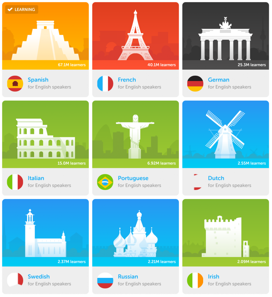 Image result for duolingo tiny cards (With images