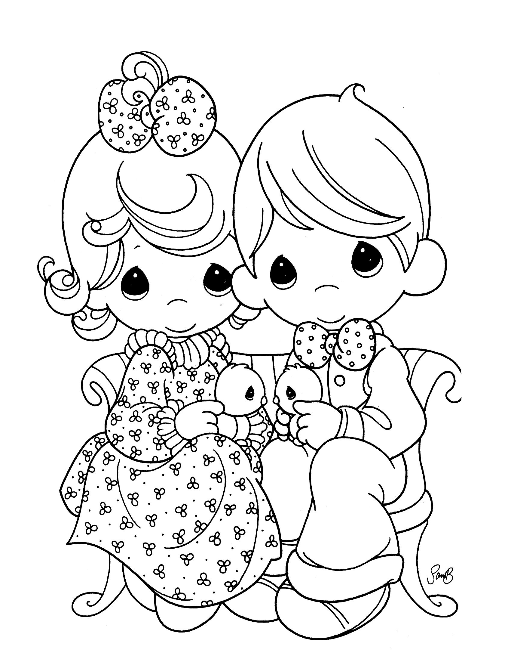 Precious Moments 21 - Coloringcolor.com | Precious moments coloring pages,  Baby coloring pages, Disney coloring pages
