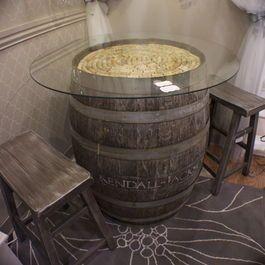 Barrel Table Botti Di Vino Tavoli Bobina Di Legno Tavolo Con Botte Di Vino