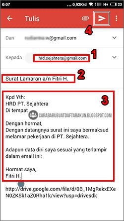 Cara Kirim Lamaran Lewat Email Via Google Drive Hp Android Google Drive Drive Google