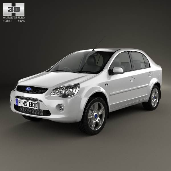3d Model Of Ford Ikon 2012 Autos
