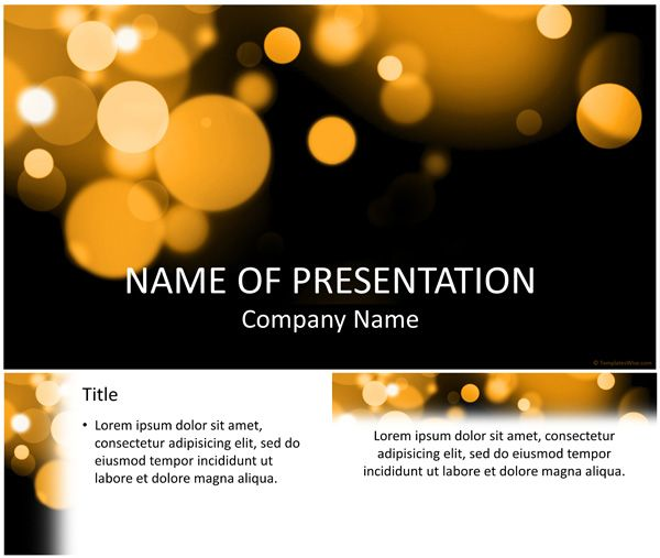 Bokeh powerpoint template power point pinterest template bokeh powerpoint template toneelgroepblik Gallery