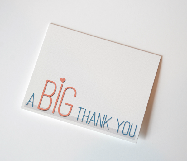 A Big Thank You Free Printable Ma Nouvelle Mode Printable Thank You Cards Free Thank You Cards Thank You Card Template