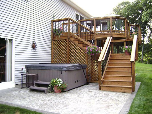High Decks | High Deck Built In Warwick RI   Decks Photo Gallery    Archadeck Of