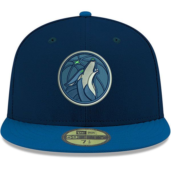 Men s Minnesota Timberwolves New Era Navy Official Team Color 2Tone 59FIFTY  Fitted Hat 2 336ada2d93f4