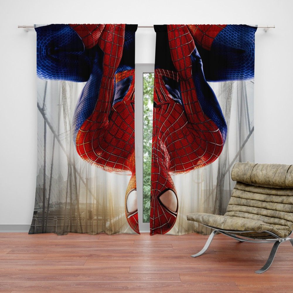 The Amazing SpiderMan Peter Parker Curtain Marvel room