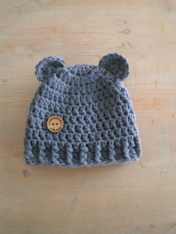 Bonnet ourson naissance   Mode Bébé par une-maille-en-l-air ... 7206fb0f240