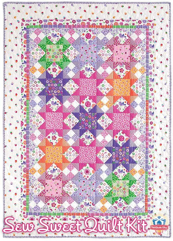 How Cute Is This Quilt We Love The Sew Sweet Quilt Kit
