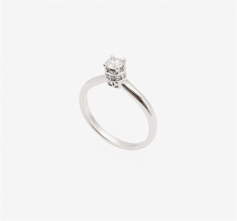 Ladies 14k White Gold 33 Carat Round Diamond Solitaire Engagement Ring 436 Wedding Ri Round Diamond Engagement Rings Solitaire Classic Ring Engagement Rings