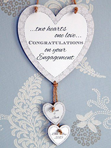 two hearts one love congratulations on your engagement lo