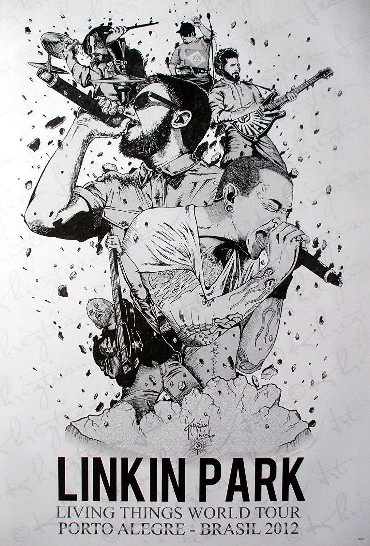 Amazon Com 6975 M Linkin Park American Rock Band Chester