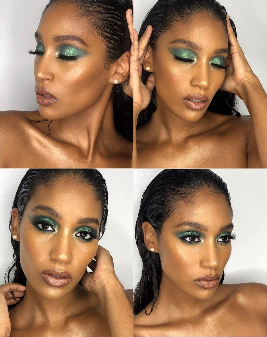 Eyeshadow Green Eyeshadow Brown Makeup Looks Black Girl Makeup