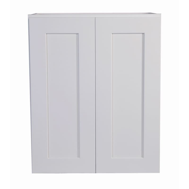 Design House 561720 Brookings 24 Wide X 30 High Double Door Wall Cabinet White Kitchen Cabinets Wall Cabinets 24 Inch Kitchen Wall Cabinets Rustic Kitchen Design House Design