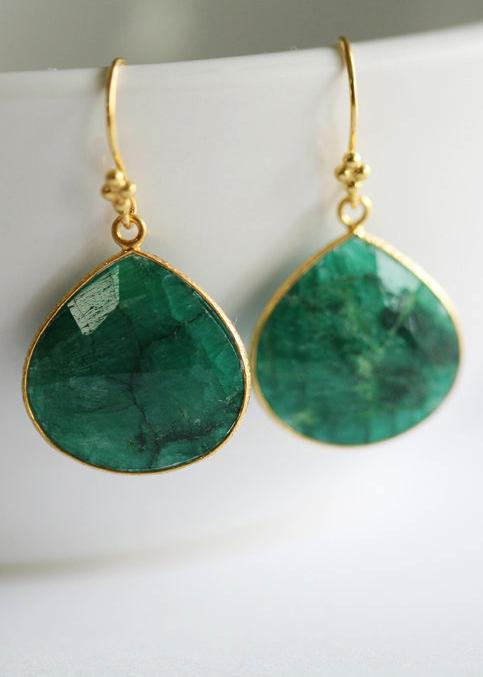 Farb-und Stilberatung mit www.farben-reich.com - Emerald earrings