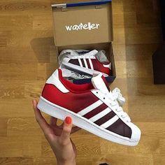 #Custom Adidas Superstars by @waxfeller