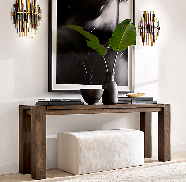 Reclaimed Russian Oak Parsons Console Table #restorationhardware